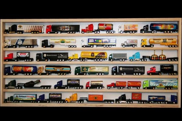 v37 vitrine spur n setzkasten regal mini truck 90 cm vitrinen holz sammlervitrinen spur n. Black Bedroom Furniture Sets. Home Design Ideas