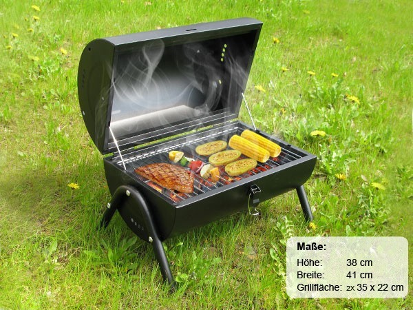 zylindergrill barbecue grill holzkohlegrill camping grill zylinder grill mit griff 10 heim. Black Bedroom Furniture Sets. Home Design Ideas